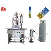 Quality Automatic 3 In 1 Liquid Filling / Sealing And Gas Filling Machine For Aerosol Products for sale