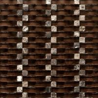 Quality Chocolate 12x12 Stone Glass Mosaic Tile Backsplash For Kitchen Wall for sale