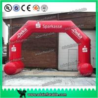 Quality Logo Printing Dragon Shaped Red Inflatable Arch Archway 7 * 4m Custom Inflatable Arch for sale