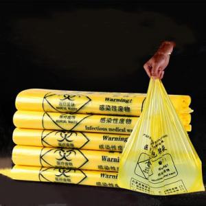 Quality Heat Seal Biohazard Plastic Bag / Biohazard Disposal Bags Environmental Friendly for sale