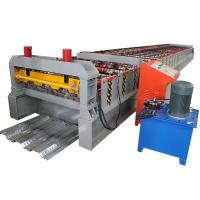 Buy cheap Floor Deck Roll Forming Machine Chain Or Gear Box Driven System Hydraulic Cutting Device from wholesalers