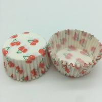 Quality Cherry Pattern Greaseless Cupcake Liners, Muffin Cake Paper Cups For Children Party for sale