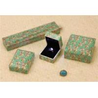 China Lovely Jewellery Packaging boxes Plastic Paper Covered Square Shape on sale