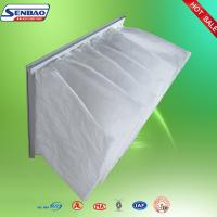 China Industrial Fiberglass Pocket Air Filter Synthetic Fiber Bag Filter F6 on sale