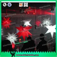Quality 1m Customized Red Star White Inflatable Star For Event With LED Lighting for sale