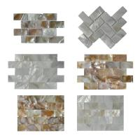 Quality Contemporary Unique 3D Shell Mosaic Tile Patio Table Mosaic 2mm Thickness for sale