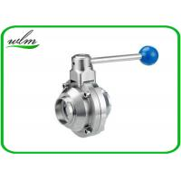 Quality High Sanitary Ball Valves , Stainless Steel Butterfly Valve For Beverage Industry for sale