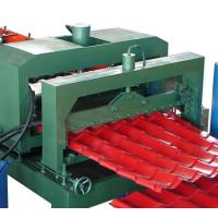 China Glazed steel roof tile roll forming machine on sale