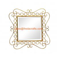 China Elegant squre metal framed mirror wall decoration bevelled middle mirror 31 1/2 on sale