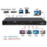 Quality 4 in 4 out Matrix HDMI2.0 switch and splitter support 4K for sale