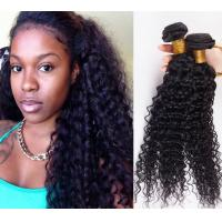Quality No Tangle double Weft Human Hair Extensions Deep Wave , Grade 7A Virgin Hair Long Last for sale