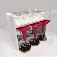 Quality glass cosmetic display showcase for sale in shopping mall for sale