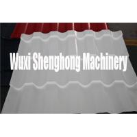 Quality Stand Seam White Glazed Roof  Roll Forming Machine / Fancy Encaustic Tile Forming Mill for sale