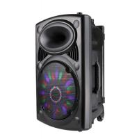 Quality Professional Disco Light Bluetooth Speaker With Trolley And Wheels , Battery Powered for sale