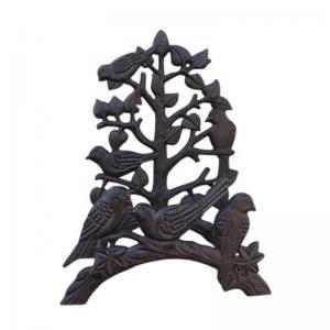 China Cast Iron Decorative Garden Hose Bracket Antique Brown on sale