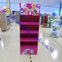 China PDQ Cardboard Floor Display Stand , Paper Display Rack For Pets Products , POP Display With LDC on sale