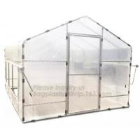 Quality Agricultural Glass Green House for Commerical,Pop up Greenhouse Eco-friendly Fiberglass Poles Overlong Cover 98x49x53 for sale