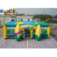 Quality Green  Inflatable Sports Games  ,Yellow 0.55mm PVC Tarpaulin Inflatable Corn Maze for sale