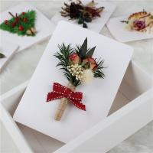 China Custom Flower Cards Handmade , Mini Creative Flower Bouquet Card on sale