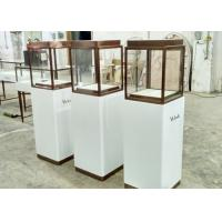 Quality Luxury Custom Glass Display Cases / Museum Display Cabinets Hidden Strip Lights for sale