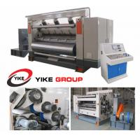 Quality Single Facer Flute Cardboard / Corrugated Cardboard Production Line Electric Driven Type for sale