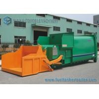 China 12m3 Tipping Bucket Mobile Refuse Compactor Station With 6x4 Hook Lift Garbage Truck on sale