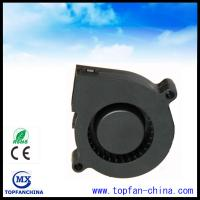 Quality 51mm Plastic DC Centrifugal Fan  5v 12v 24v Black For Car with Dual Ball Bearing for sale