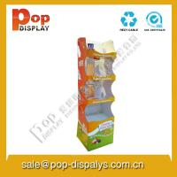 Quality Snacks Foldable Cardboard Display Stands For Market Promotion for sale