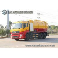 China Dongfeng 15000L 10 Wheel Vacuum Tank Truck 270hp High Pressure Cleaning And Sewage Suction on sale