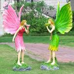 Quality Life size fiberglass fairy garden statue model for sale