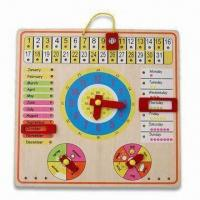 Quality Calendar Wooden Toy, Made of Basswood, Measures 30.5 x 30.5 x 1cm for sale