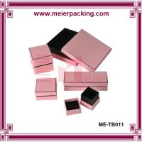 Quality CustomPink Paper Jewelry Box/Jewelry Set Box for Necklace, Earring, Ring, Bracelet  ME-TB011 for sale
