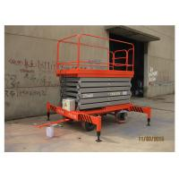 Quality Factories Mobile Elevated Working Platforms , 7m Max Height Scissor Platform Lift for sale