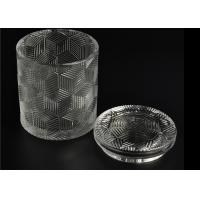 Buy Contemporary Glass Candle Holder Transparent With Embossed Pattern at wholesale prices