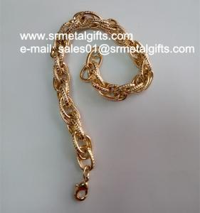 China Imitation gold fashion steel jewelry chain bracelet chain bangle on sale