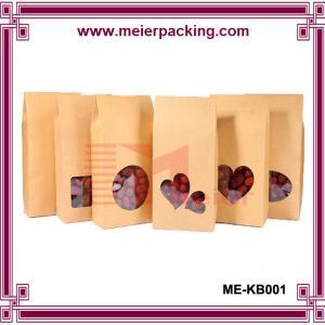 Quality Creative custom plastic lined kraft paper bag/Food class eco-friendly paper bag ME-KB001 for sale