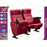 Quality Luxury 3d Theater Cinema Chair / Sponge + Fabric + Steel Movie Seat for sale