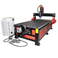 Quality 4*8 Feet 4 Axis Wood CNC Router with Underneath Rotary Axis/Mach3 Control for sale