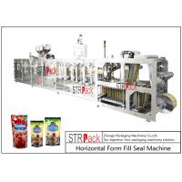 Quality PLC Control Stand Up Pouch Filling And Sealing Machine For ketchup / Sauce 120BPM for sale