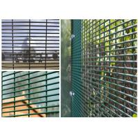 "Quality PVC Coated High Security Steel Wire Fencing Wire Fence Panel  4mm wire 3""*1/2"" Hole For Prison for sale"