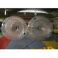 Quality Waterproof Plato PVC Inflatable Water Toys , Inflatable Water Roller for sale