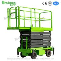 Buy Four Wheel 11 Meters Industrial Mobile Scissor Lift Platform 300Kg Loading at wholesale prices