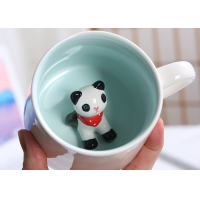 Quality 3D Creative Animal 13.5x8.5x8cm Personalised Ceramic Mugs for sale