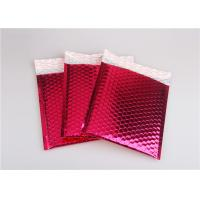 China Rose Pink Metallic Mailing Envelopes , Colored Bubble Mailers For Transport on sale