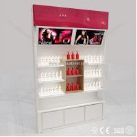 Quality Free standing cosmetic cabinet showcase display cabinet display showcase for sale