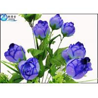 Buy Upscale Flowers Blue Rose Fake Plastic Aquatic Plants Artificial Ornamental at wholesale prices