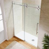 Buy Wholesale Custom Stainless Steel Sliding Glass Free Standing Shower Enclosure at wholesale prices