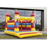 Quality PVC Clown Commercial Inflatable Bouncer , Yellow Inflatable Clown Bouncer For Kids for sale