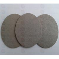 Quality Titanium powder sintered filter plate hydrogen fuel cell plates for sale
