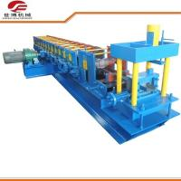 Quality New U Type Slot Colored Steel Purlin Roll Forming Machine Blue Color for sale